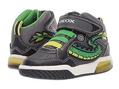 Geox Kids Jr Inek 7 (Toddler) (Black/Green) Boys Shoes
