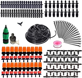 Drip Irrigation Kit 82ft/25m Micro Automatic Irrigation System for Garden Flower Beds DIY Adjustable Watering Drip Irrigat...