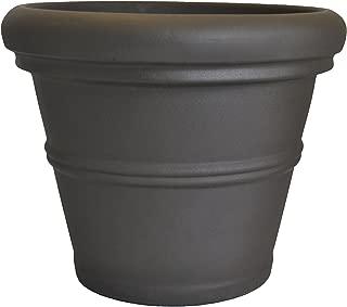 Tusco Products RR36ES Rolled Rim Garden Pot, 36-Inch, Espresso