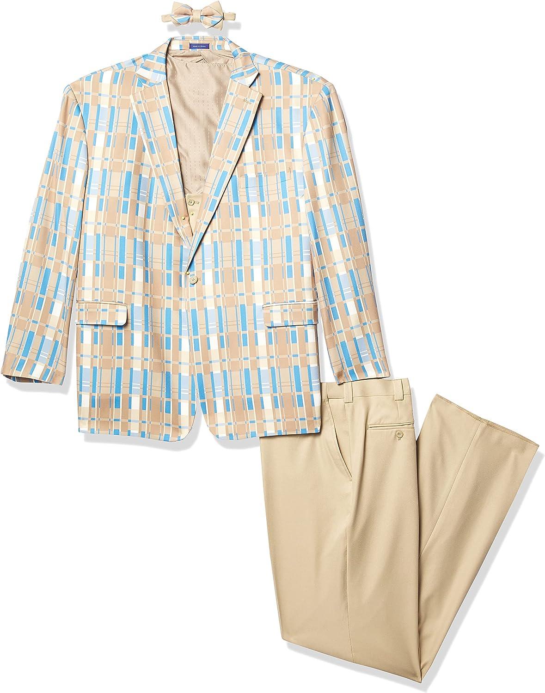 Blu Martini 3 Pc. Plaid Men's Suit