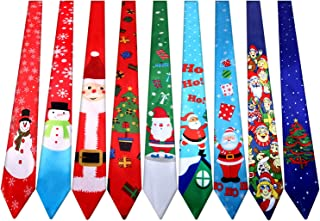 9 Pieces Christmas Necktie Decorative Christmas Tie Men and Boys Christmas Theme Ties for Christmas Party Costume, 9 Style...