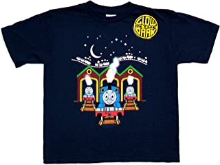 Thomas The Tank Engine Thomas AT Station Glow-In-The-Dark 2-Sided Navy Blue Tee
