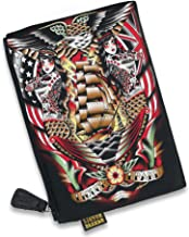 Liquorbrand Siren Old School Mermaid w Ship Tattoo Art Cosmetic Bag Travel Pouch