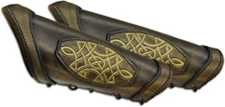 Leatherworks Bracers with Celtic Design