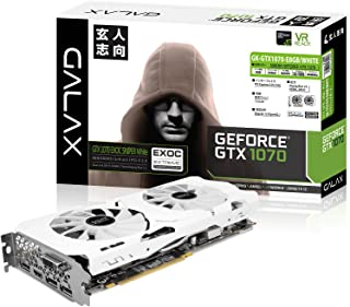 玄人志向 ビデオカード 新シリーズGALAKURO Whiteモデル GEFORCE GTX 1070搭載 GK-GTX1070-E8GB/WHITE