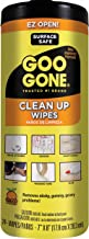 Goo Gone Clean Up Wipes Adhesive Remover - 24 Count - Removes Adhesive Residue Labels Stickers Crayon Tree Sap Gum Masking Tape Glue and More