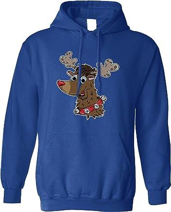 Christmas Unisex Hoodie Cute Rudolf The Reindeer Character