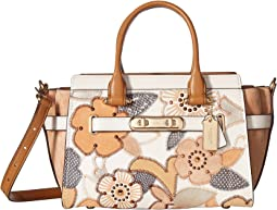 COACH - Coach Swagger 27 With Patchwork Tea Rose And Snakeskin Detail