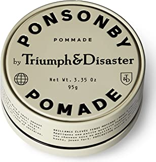 Triumph & Disaster Ponsonby Pomade 3.35oz – Medium Hold Non-Greasy High-Shine Petroleum-Free Hair Pomade with Nourishing Dragon͛s Blood, Harakeke, and Argan Oil