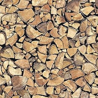 18,83€/m² Klebefolie in Holz-Optik Feuerholz I inkl. Rakel & eBook mit Profitipps I Selbstklebende Folie zum Basteln I Deko-Folie zum Verschönern von Möbel & Küche – hitzebeständig & abwaschbar