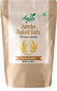 Agile Organic® Jumbo Rolled Oats, 1kg (Big Leaf | Gluten Free)