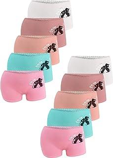 LOREZA ® Pack de 10 Unidades - Braguitas de algodón para niña - Material cómodo y Suave - con Diferentes Motivos - Disponi...