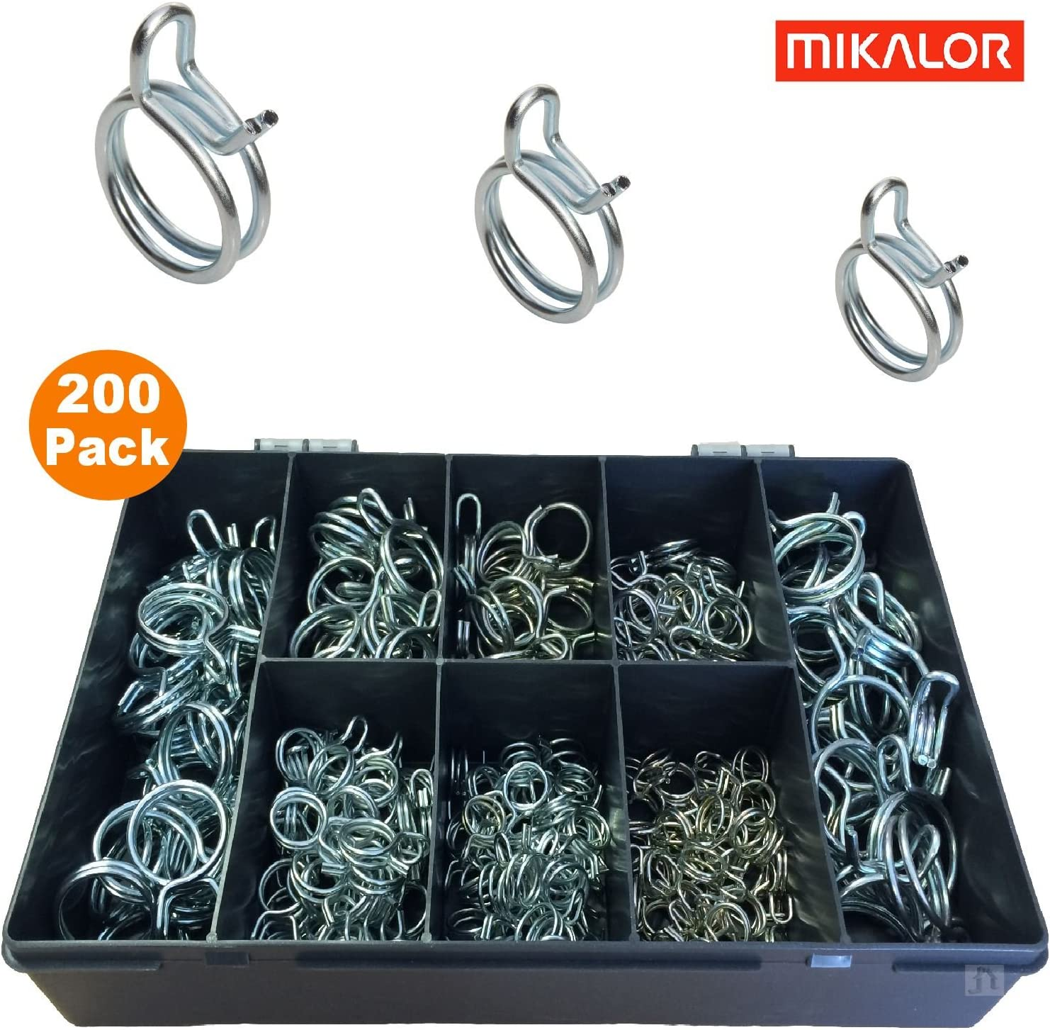 Smarthome Cheap mail order specialty store 200 x Assorted Mikalor Wire Double Coolan Spring Selling and selling Clips