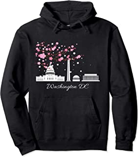 Washington DC Monuments Memorials Cherry Blossoms Hoodie