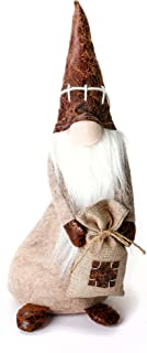ITOMTE Handmade Swedish Gnome, Scandinavian Tomte with Spring, Yule Santa Nisse, Nordic Figurine with Pocket, Plush Elf Toy, Winter Table Ornament, Christmas Decoration, Holiday Presents - 15 Inches