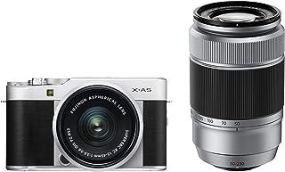 Fujifilm X-A5 systemkamera (24,2 megapixel) inkl. XC 15-45 mm/XC 50-230 mm II objektivsats svart, silver