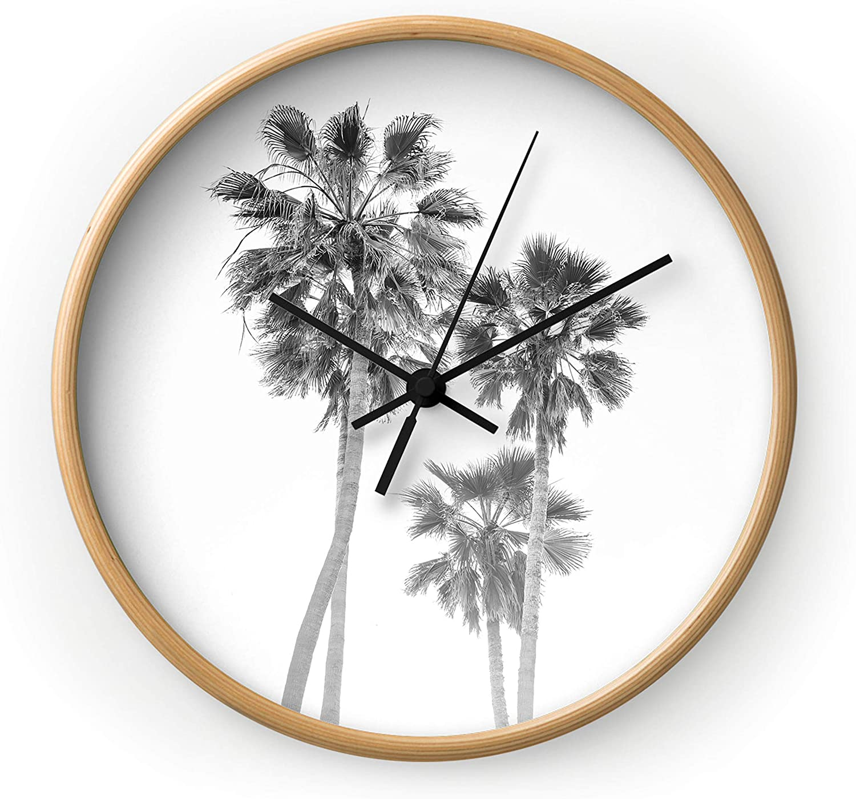 Deny 40%OFFの激安セール Designs Bethany Young Wall Natural 激安☆超特価 Frame Clock Black Hand