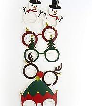 Gift Republic Festive Christmas Glasses Pack of 6, Unisex, Multi