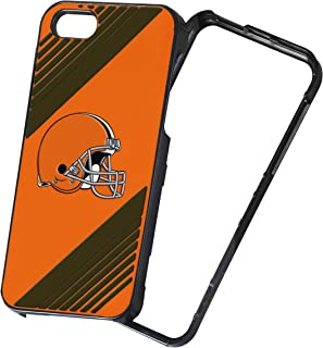 Forever Collectibles NFL 2-Piece Snap-On iPhone 5/5S Polycarbonate Case - Retail Packaging - Cleveland Browns