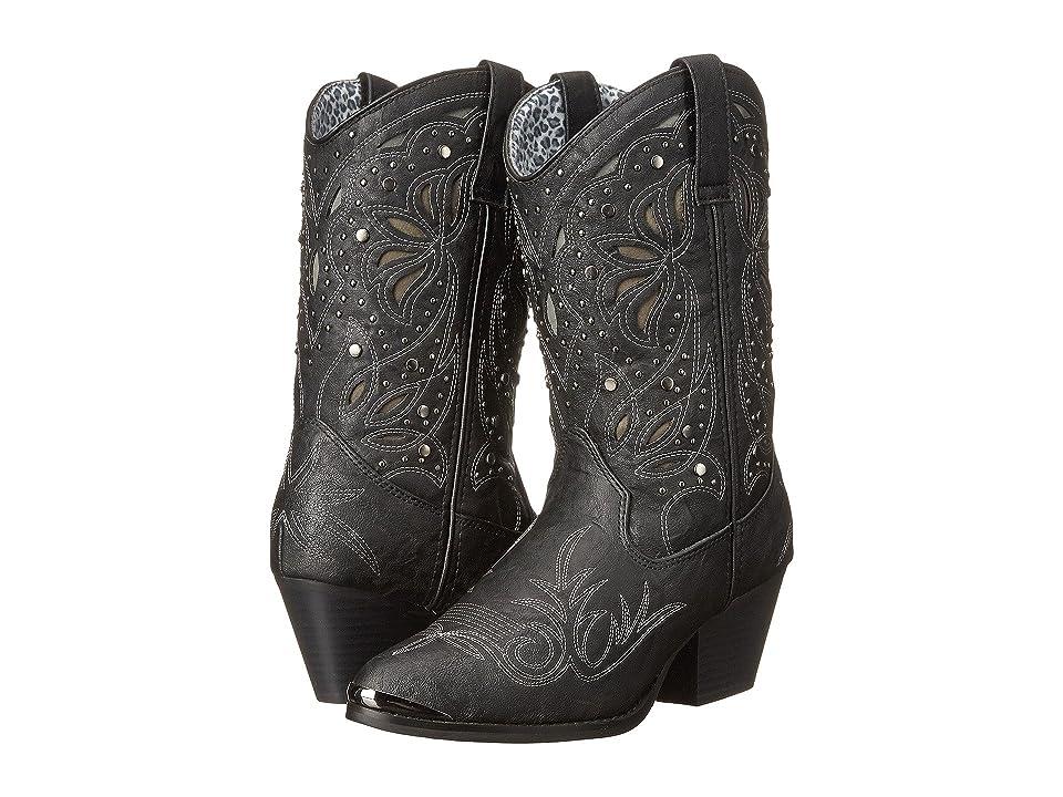 Dingo Annabelle (Black Suede PU) Cowboy Boots