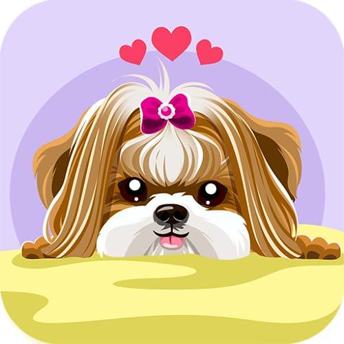 Shih Tzu Dog Sticker Emojis - Gif Animated Keyboard App