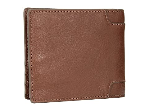 Bifold Garrett Flip w Brown Id Fossil OF5q8
