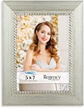 Icona Bay 5x7 Picture Frame (5 x 7, 1 Pack, Silver) Photo Frame, Wall Mount Table Top, Black Velvet Back, Landscape as 7x5...