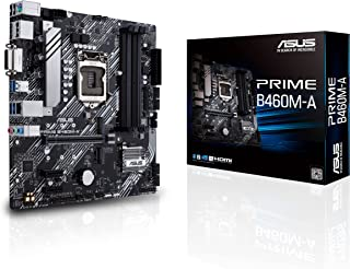 لوحة ام اسوس برايم بي 460 ام-ايه ال جي ايه (انتل الجيل 10) مايكرو ATX (دوال ام 2، شبكة LAN 1 Gb، منافذ USB 3.2 الجيل الاو...