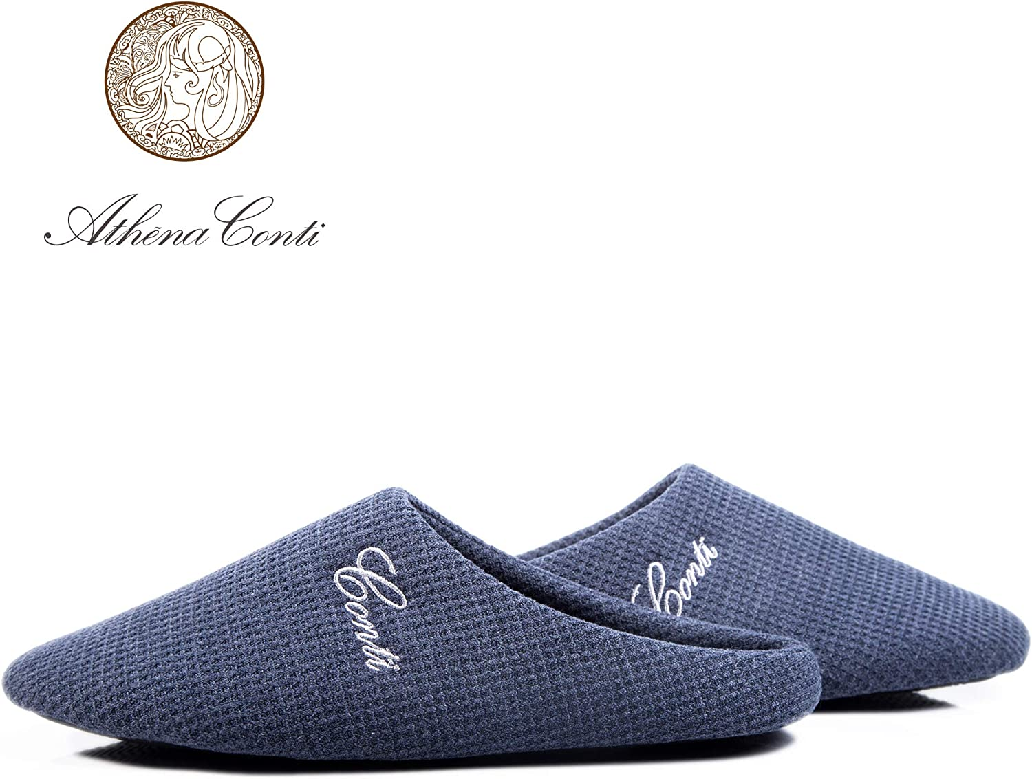 Conti Home Ideal Indoor shoes Comfort Knitted Slip ons Memory Form Slippers for Men and Women