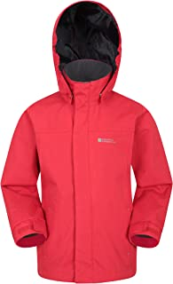 Mountain Warehouse Orbit Kids Jacket - Waterproof Spring Rain Coat Red 9-10 years