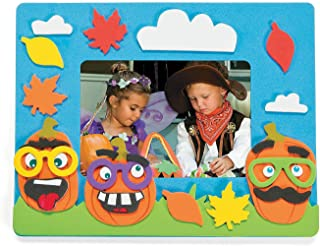 Funny Face Pumpkin Photo Frame Craft Kits (Makes 12 Frames) Halloween Crafts for Kids
