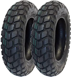 MMG Set of 2 Tires 120/90-10 (P126) Tubeless Front or Rear Motorcycle Scooter Moped