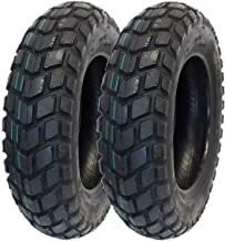 MMG Tire Set, Front Tire 120/90-10 Rear Tire 130/90-10 On Road TGB Motard Motorcycle Scooter (P126)