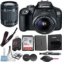 Canon EOS 4000D / Rebel T100 Cámara DSLR con lente de zoom DC III de 18 a 2.165in con paquete de accesorios + tarjeta de memoria SanDisk 32 GB + lector de tarjetas USB de alta velocidad + kit de inicio de lujo (16 unidades)