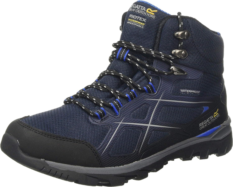 Regatta Men's Kota II Mid Waterproof Hiking Boot High Rise, Blue (Navy/Oxford Blue 942), 7 (41 EU)