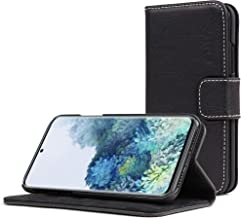 Snugg Samsung S10e Wallet Case – Leather Card Case Wallet with Handy Stand Feature – Legacy Series Flip Phone Case Cover in Blackest Black