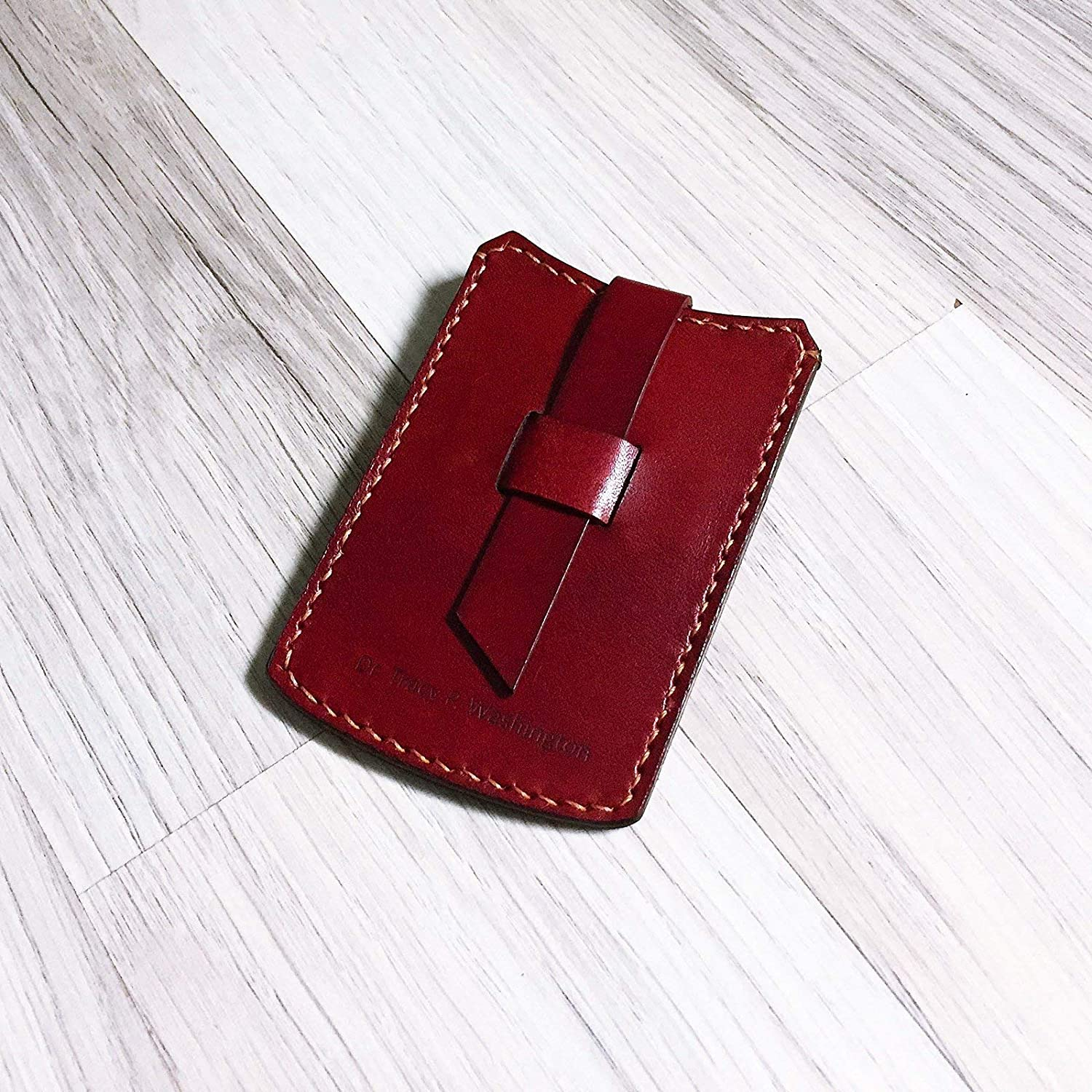 Personalized mini slim leather handmade wallet customized men New products world's highest quality New York Mall popular na