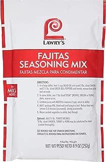 Lawrys Fajita Seasonings Mix - 8.9 oz. package, 6 per case