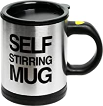 Self Stirring Coffee Mug Cup - Funny Electric Stainless Steel Automatic Self Mixing & Spinning Home Office Travel Mixer Cu...