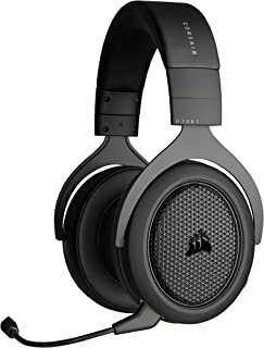 Corsair HS70 - Auriculares Bluetooth con Cable para Videojuegos con Bluetooth, Funciona con PC, Mac, Xbox Series X, Xbox Series S, Xbox One, PS5, PS4, Nintendo Switch, iOS y Android, Color Negro