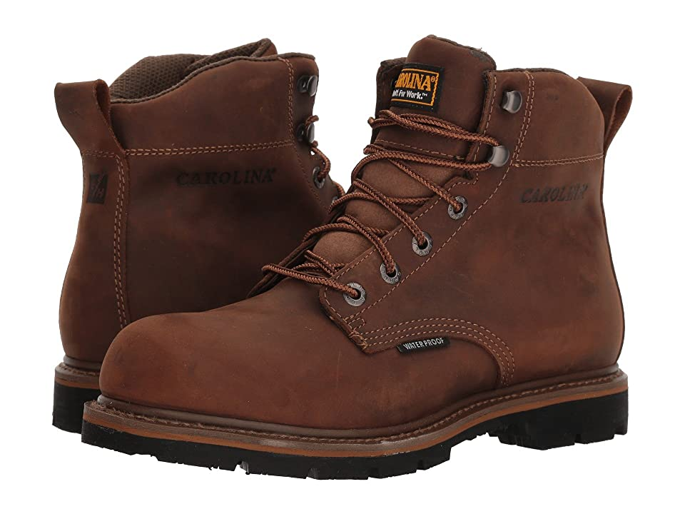 Carolina 6 Waterproof Work Boot CA9036 (Mohawk RW/Brown Leather Upper) Men