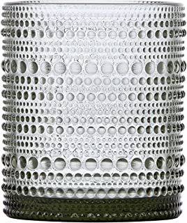 D&V Jupiter Glass Collection Double Old Fashioned Cocktail Glass, 10 Ounce, Smoke, Set of 6