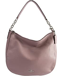 31399 Elle Dusty Rose Refined Pebble Leather Convertible Hobo Bag