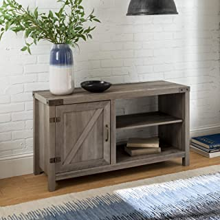 WE Furniture Modern Farmhouse Barn Door Wood Stand for TV's up to 48
