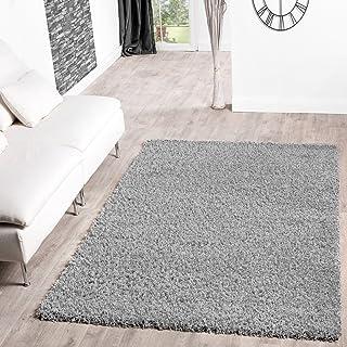 comprar comparacion T&T Design Shaggy - Alfombra para salón, diferentes precios, varios colores, gris, 140 x 200 cm