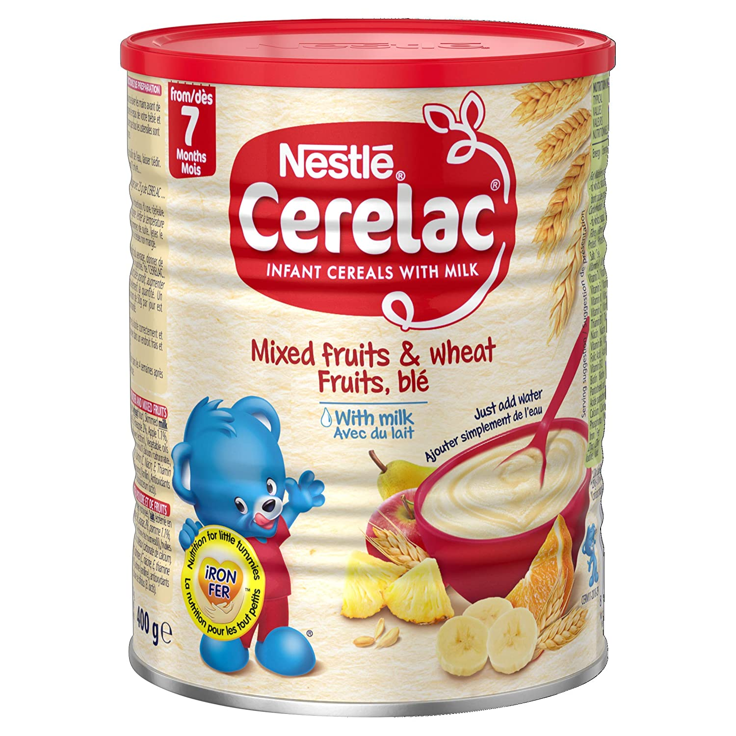 Nestle Cerelac Mixed Fruits Wheat Ounce 14.1 with Cans Max 84% Free Shipping New OFF Milk