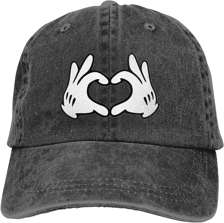 TTYGJ Mickey Cowboy Hat Cartoon Baseball Hat Trucker Hat for Men Women Retro Denim Hats Baseball Cap Dad Hat