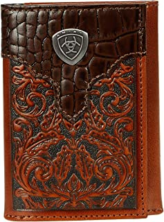 Ariat Gator Print Trifold Brown One Size
