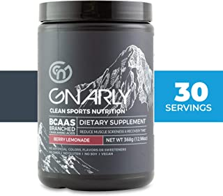 Gnarly Nutrition, BCAA Pre and Mid Workout Supplement to Reduce Muscle Soreness, Natural Berry Lemonade (30 Servings)