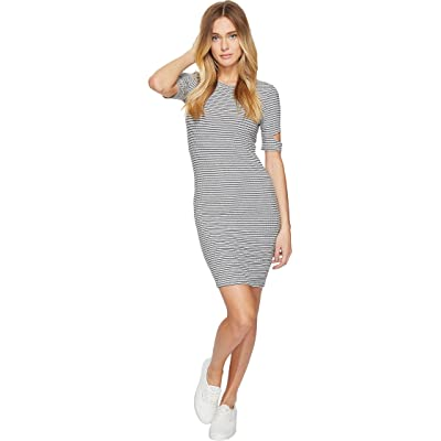 LNA Mini Esso Dress (Grey/Black Stripe) Women